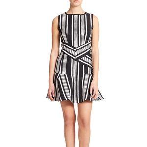 Carven striped cutout dress